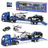 iBaste Auto Anhänger Spielzeug 1: 64 Trailer Baufahrzeug Kinder Set