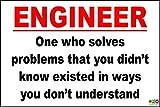 Die besten Dad Funnies - Funny Sign–Ingenieur One Who löst Probleme, die Sie Bewertungen