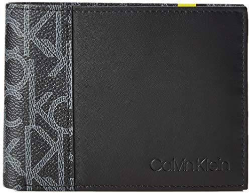 Calvin Klein Ck Mono 5cc Coin - Porta carte di credito Uomo, Nero (Black), 9.5x1.9x12.4 cm (B x H T)
