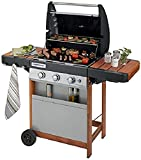 Campingaz Gas BBQ 3 Series Woody LX, 3 burner stainless steel gas barbecue