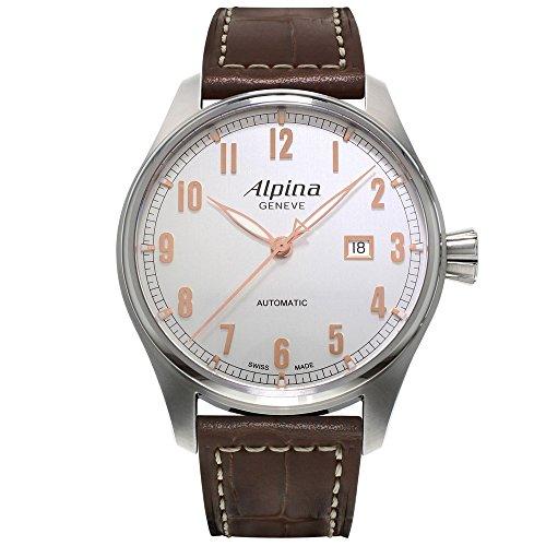 ALPINA STARTIMER Classic Herren 44MM AUTOMATIKWERK SAPHIRGLAS Uhr AL525SCR4S6