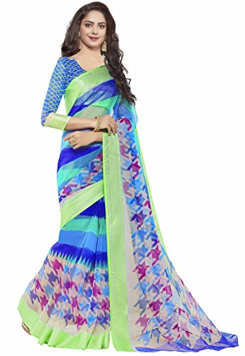 Miraan Women's Organza Saree With Blouse Piece (Srh21_Multi-Coloured)