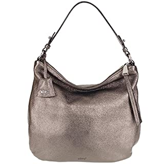 Abro Bucket Style Shoulder Handbag N/A Gunmetal