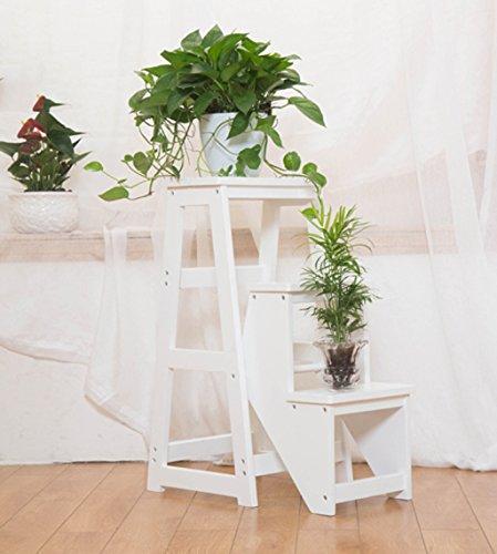 CAIJUN Tabouret d'échelon pliable Chaises d'escalier Échelle en bois massif 3 couches Accueil , 4 couleurs Marchepieds escamotables ( Couleur : C )