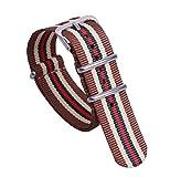 18mm marron / beige / vert / remplacement rouge bracelet bande haut de gamme montre...