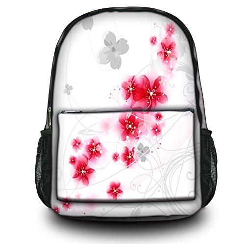 Luxburg® Design Rucksack Multifunktionsrucksack Ranzen Schulranzen Sporttasche Backpack Sakura weiß