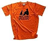 Shirtzshop Herren Mann-Mein Hund Versteht Zwar Nich Alles-Aber Er Hoert Mir Wenigstens T-Shirt, Orange, XXXL