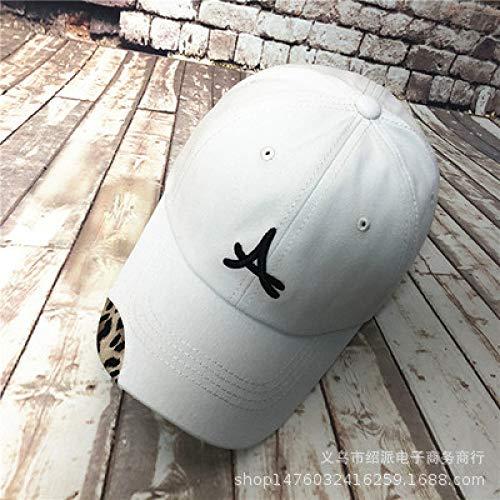 zhuzhuwen Hut weibliche Baseballmütze Leopard Tattoo Stickerei Softtop Cap Visier männlich 5 einstellbar -