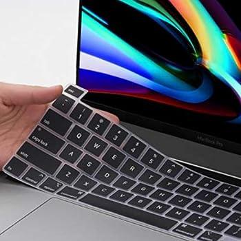 MOSISO Tastaturschutz Kompatibel mit MacBook Pro 16 Zoll 2019 Freisetzung A2141 mit Touch Bar /& Touch ID /& Retina Display wasserdichte Staubdichte Sch/ützende Silikonhaut Klar EU Layout