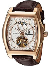 Burgmeister Armbanduhr für Herren mit Analog Anzeige, Automatik-Uhr und Lederarmband - Wasserdichte Herrenuhr mit zeitlosem, schickem Design - klassische Uhr für Männer - BM222-315 Rockford