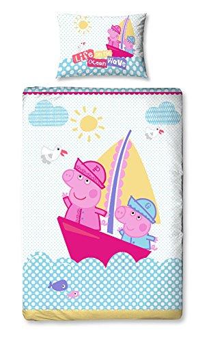 Peppa Pig Funda de edredón y funda de almohada