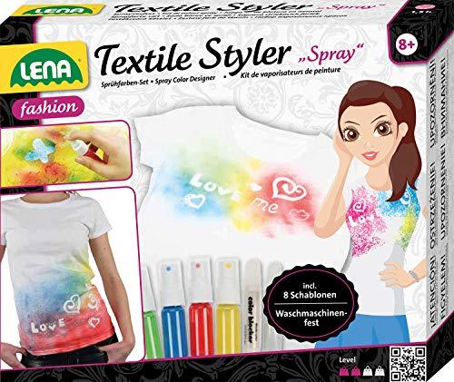 Lena 42597 - Textile Styler Spray con 4 Sprays de colores, lavables a máquina