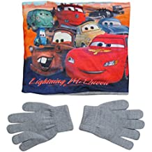 Disney Cars 3 Kollektion 2017 Snood Schlauchschal Schal und Handschuhe 3 - 7 Jahre One Size Loop Kragenschal mit Fleecefutter Lightning McQueen