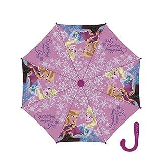 Arditex Disney Frozen - Die Eiskönigin Regenschirm, Aufklappautomatik, Ø 82 cm, Farbe:Rosa