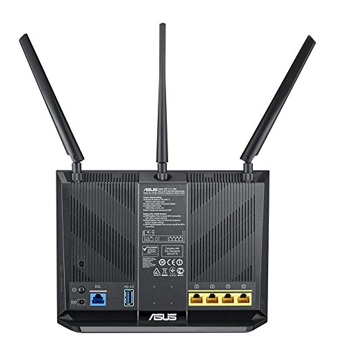 Asus DSL-AC68U Modem Router (Ai Mesh WLAN System, EU und DE-Version Annex A B J, WiFi 5 AC1900 MIMO, 4x Gigabit LAN…