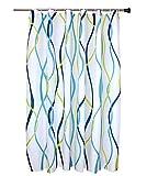 QEWA Duschvorhänge Wavy Muster Polyester Dicker Wasserdicht Mildewproof Feuchtigkeit Bad Duschvorhang Bad Vorhang hängen , 180*200