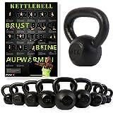 Kettlebell ghisa 4 kg, 6 kg, 8 kg, 10 kg, 12 kg, 14 kg, 16 kg, 18...