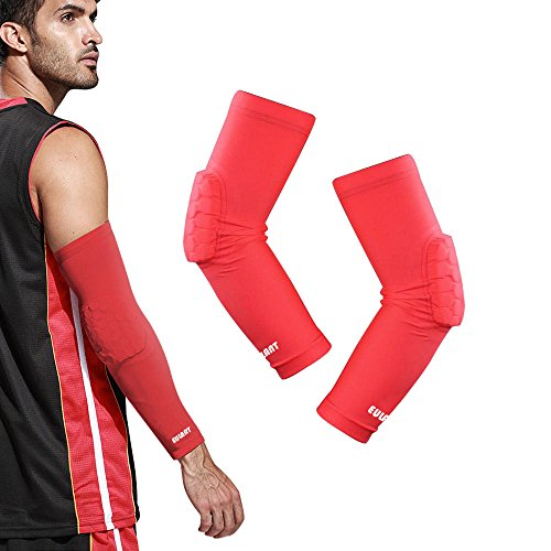 Arm Sleeve Basketball Shooting Sleeve EULANT 1 Paar Kompressions Armstulpen mit Ellbogenschutz Herren und Damen Handball Armstulpe - Nike Sleeves Shooting