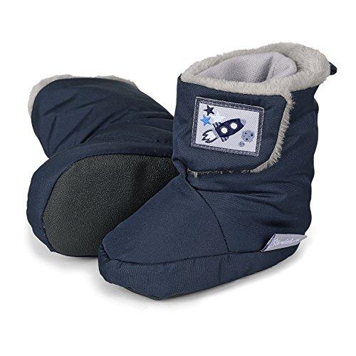 Sterntaler Baby Jungen Stiefel, Blau (Marine 300), 17/18 EU (Blau Baby-schuh)