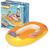 Lively Moments Aufblasbares Boot Kinderboot mit Krabbenmotiv zum Aufblasen ca. 119 cm in orange