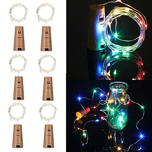 12x 20 LED Flaschen-Licht Flaschenlicht Lichterketten Nacht Licht Weinflasche für Halloween, Weihnachten, Party, Feiertage, Hochzeitsdekoration(12 Packs) (Project X Halloween)