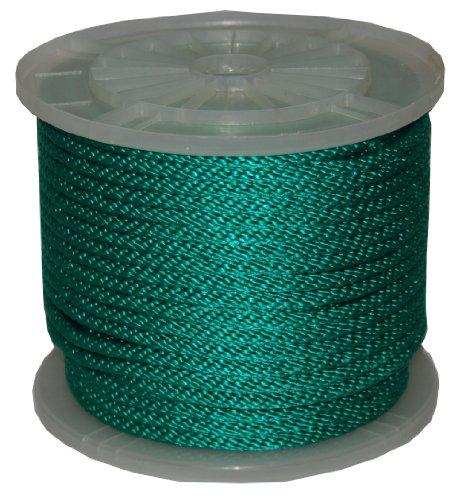 T.W, Evans, 983323/8Zoll von 300-feet Solide Braid Polypropylen Multifil Derby Seil, Grün (Derby Seil)
