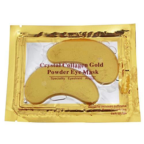 Sungpunet 10Pcs Kollagenaugenmaske unter den Augen dunkle Augenringe Anti-Aging-Feuchtigkeitskristallaugenmaske Damen Make-up-Accessoires Gold-Geschenk der Männer