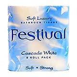 Festival Luxus zweilagig Toilettenpapier 6Packungen à 9Rollen