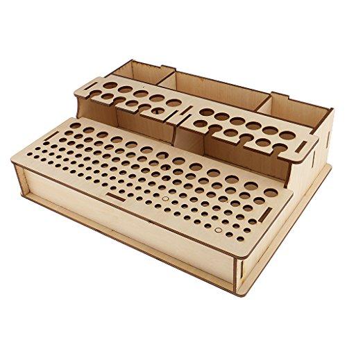 Hellery Leathercraft Punch Stamp Tools Ständer Halter Startseite Tools Modell Box Organizer Rack - Holz3, 400x310x111mm -