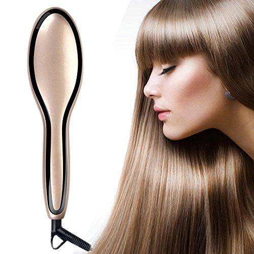 Euph Haarglättungsbürste – antistatisch und mit Verbrühschutz