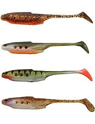 Westin Hollow Teez ST 9cm - 6 Gummifische zum Spinnfischen, Gummiköder zum Spinnangeln, Gummishad für Zander & Barsch, Kunstköder
