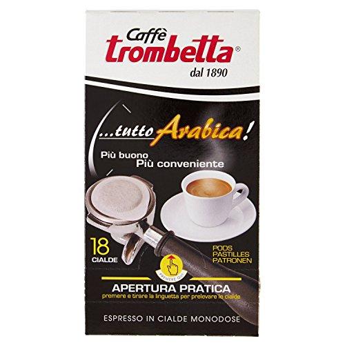 Caffè trombetta cialda tutto arabica - 6 confezioni da 18 cialde