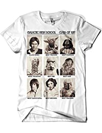 17- Camiseta SoftStyle Blanca Unisex Star Wars-Galactic High School