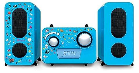 Design Stereo Musik Anlage CD UKW Jungen Radio Lautsprecher blau Aufkleber Big Ben MCD 11, Aufkleber: Eliware