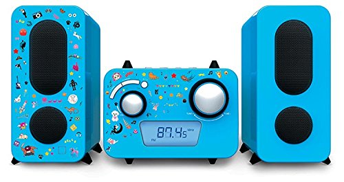 Stereo Music Center MCD11 - Kids mit 5 Aufkleber-Bögen, Blau