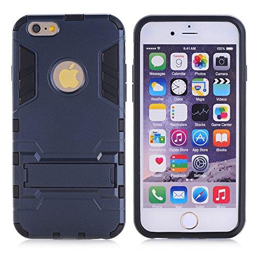 Meimeiwu 2 in 1 Dual Layer Ibrida TPU/PC Full Body Custodia Protettiva Bumper Cover Per iPhone 6 6S - Grigio Nero