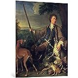 "Cuadro en lienzo: Alexandre-Francois Desportes ""Self Portrait as a Hunter, 1699"" - Impresión artística de alta calidad, lienzo en bastidor, 85x100 cm"
