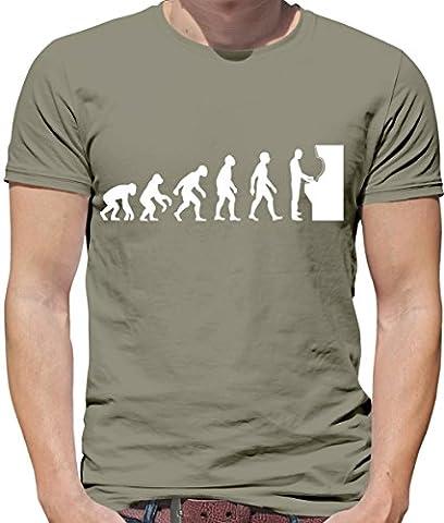T-shirt geek Evolution of Man - motif jeu d'arcade - homme - 10 coloris - Kaki - L