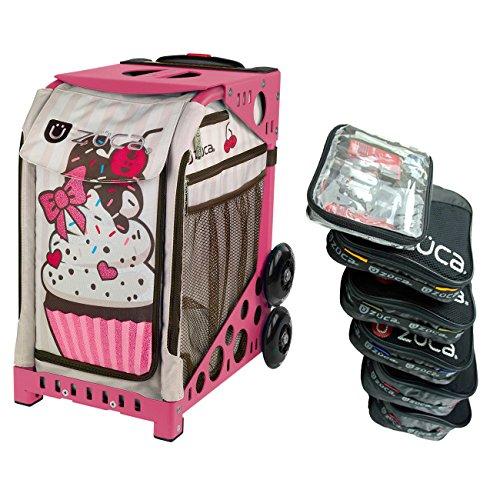 ZUCA Rolling Koffer - Sprinklez Sporttasche mit Rahmen nach Wahl, Pink Frame Extra Bundle