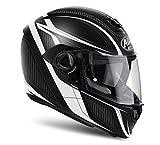 Airoh Motorrad Helme Storm Sharpen, White Matt, Größe S