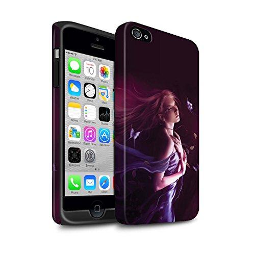 Officiel Elena Dudina Coque / Matte Robuste Antichoc Etui pour Apple iPhone 4/4S / Feu Blanc Design / Un avec la Nature Collection Par le Vent