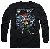 Judge Dredd - T-Shirt - Manches Longues - Opaque - Homme Noir Noir - Noir - XX-Large