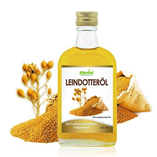 Alpvital Leindotterl 100 Rein Kaltgepresst 100ml Omega 6 Cholesterin Entschlackung