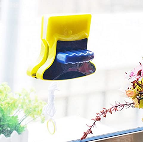 Window Cleaning Tools Magnetic Double Side Glass Surface Brush Cleaner Wiper NEW plastic , by LC Prime
