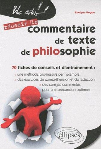Commentaire de texte de philosophie