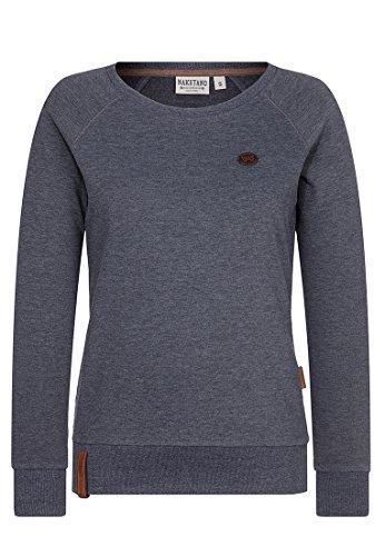 Naketano Female Sweatshirt Krokettenhorst Indigo Blue Melange, L