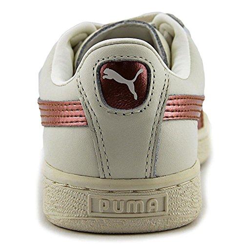 Puma Basket Classic Metallic Leder Sportliche Turnschuh Whisp Whi-Whisp Whi-Cop