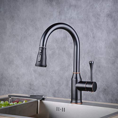 Beelee Wasserhahn Küche 360° schwenkbarer Küchenarmatur Hoher Auslauf Spültischarmatur Hochdruck Armaturen Wasserfall Einhebelmischer Mischbatterie für Küche Spüle,BL70862B -