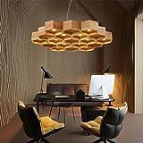 QINQIN Waben Sie-Esszimmer Wohnzimmer minimalistische Studie Kunst Holz Kronleuchter , 12 head