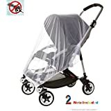 Eiram 2-Pack LARGE (59in) Premium Baby Mosquito Nets For Strollers | Covers Beds,PlayPens, Car Seats,Bassinets & Cradles|Mesh Insect Shield Netting,Screen Protection For Cribs And Baby Accessories